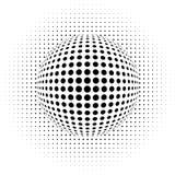 Illusion optique - points illustration de vecteur