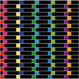 Illusion optique pour la hypnothérapie illustration stock
