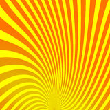Illusion rays on yellow background. Vector Illustration. Retro sunburst background. Grunge design element. Sunshine effect. Good f. Or pictures, wallpapers Royalty Free Stock Photo