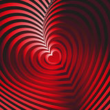 Illusion of red heart Stock Photo