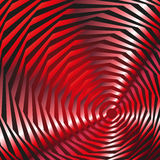 Illusion of red ovals Stock Images