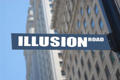 Illusion road. Sign, concept photo royalty free stock images