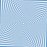 Illusion of rotation wavy movement. Abstract blue  Royalty Free Stock Images