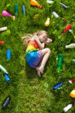 The illusion of safety - dreaming of a colorful future Royalty Free Stock Image