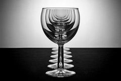 Illusion. Some illusion fun with wine-glasses Stock Image