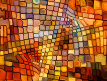 Illusion of Stained Glass Royalty Free Stock Photography