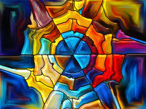 Illusion of Stained Glass Stock Photos