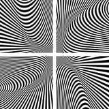 Illusion textures set. Abstract op art backgrounds. Vector art Stock Photos