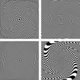Illusion of torsion twisting movement. Stock Photo