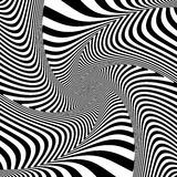 Illusion of torsion twisting movement. Royalty Free Stock Images