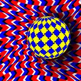 Illusion Vector. Optical 3d Art. Rotation Dynamic Optical Effect. Swirl Illusion. Movement Executed In The Form. Illusion Vector. Optical 3d Art. Motion Dynamic Royalty Free Illustration