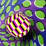 Illusion Vector. Optical 3d Art. Rotation Dynamic Optical Effect. Psychedelic Swirl Illusion. Fantasy Hyperboloid. Illusion Vector. Optical 3d Art. Rotation royalty free illustration
