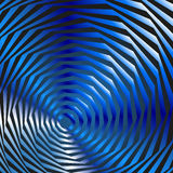 Illusion von blauen Kreisen Stockfotografie