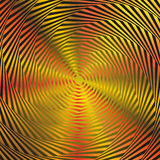 Illusion von orange Kreisen Lizenzfreies Stockbild
