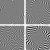 Illusion of wavy rotation and torsion movement. Royalty Free Stock Photography