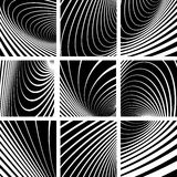 Illusion of whirl motion. Abstract backgrounds set Royalty Free Stock Images