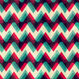 Illusion zigzag seamless pattern. (eps 10 Stock Images