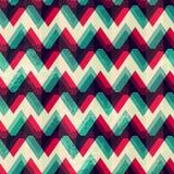 Illusion zigzag seamless pattern Stock Images