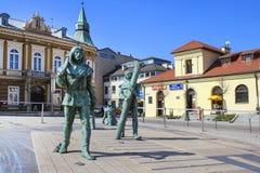 illusionary målning 3d och skulpturer Fotografering för Bildbyråer