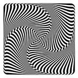 Illusione di rotazione, di turbinio e di torsione Disegno di arte op Immagine Stock Libera da Diritti