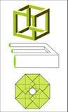 Illusione geometrica Fotografie Stock Libere da Diritti