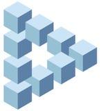 Illusione ottica Fotografia Stock Libera da Diritti
