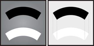 Illusione ottica illustrazione vettoriale