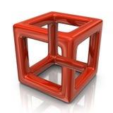 Illusione ottica arancio Fotografie Stock Libere da Diritti