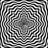 Illusione ottica Arte di illusione Fondo in bianco e nero torto estratto Illustrazione di vettore Immagine Stock Libera da Diritti