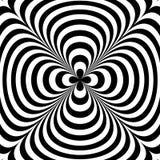 Illusione ottica Arte di illusione Fondo in bianco e nero torto estratto Illustrazione di vettore Immagini Stock Libere da Diritti