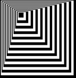 Illusione ottica Arte di illusione Fondo in bianco e nero torto estratto Illustrazione di vettore Fotografie Stock Libere da Diritti