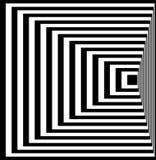 Illusione ottica Arte di illusione Fondo in bianco e nero torto estratto Illustrazione di vettore Fotografie Stock