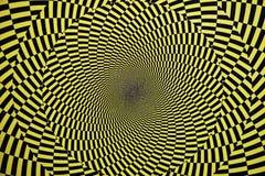 Illusione ottica con i cerchi Immagine Stock Libera da Diritti