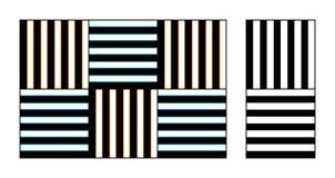 Illusione ottica dell'acquerello sulle grate Fotografia Stock