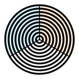 Illusione ottica dell'acquerello sulle grate circolari Fotografia Stock Libera da Diritti