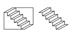 Illusione ottica delle scale di Schroeder Immagine Stock