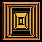 Illusione ottica di vettore luminoso Elemento di arte op Immagine Stock Libera da Diritti