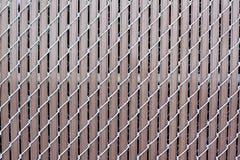 Illusione - rete fissa del metallo del Brown immagine stock