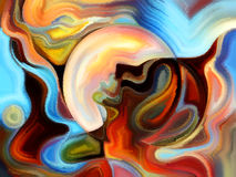 Illusionen der inneren Farbe Lizenzfreie Stockfotos