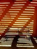 Illusioner av en bänk Fotografering för Bildbyråer