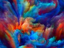 Illusioner av målarfärg Arkivfoton