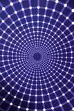 Illusioni ottiche, tunnel leggero di infinito Fotografia Stock Libera da Diritti