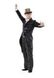 Illusionist Shows Tricks with a Magic Wand Royalty Free Stock Photography
