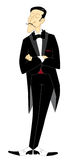 Illusionist in tailcoat. And bow Royalty Free Illustration