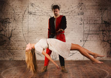Illusionista medievale Fotografia Stock