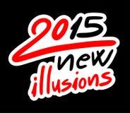 2015 illusions. Creative design of 2015 illusions stock illustration