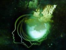 Illusions de la lune Photos libres de droits