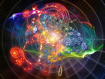 Illusions of Math Visualization Stock Images