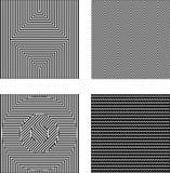 Illusions optiques noires et blanches réglées de vecteur Texture sans joint illustration de vecteur