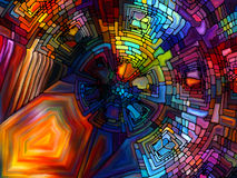 Illusions of Stained Glass Royalty Free Stock Image